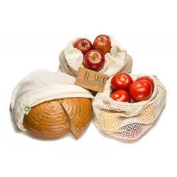 Plastikfreie Obst- & Gemüse Beutel 3er Set